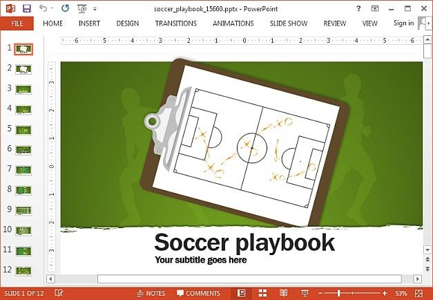football playbook template