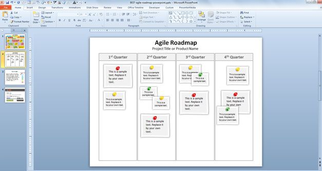 Free Agile Roadmap PowerPoint Template