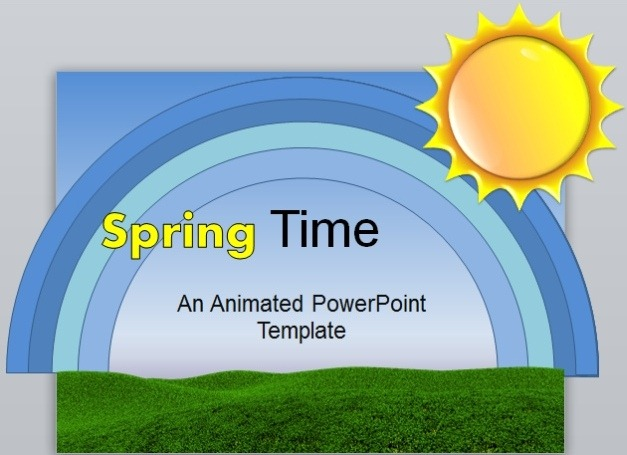 Animated Spring PowerPoint Template