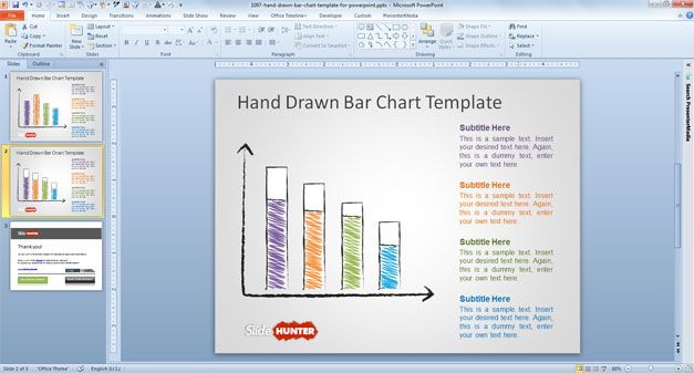 Free Hand Drawn Bar Chart Template for PowerPoint - Free PowerPoint - free powerpoint design templates