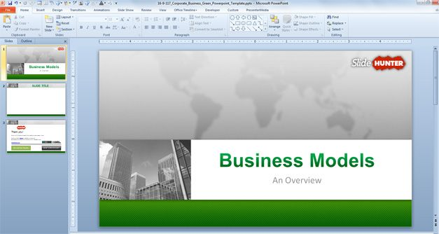 Free Corporate Business PowerPoint Template (169) - Free PowerPoint