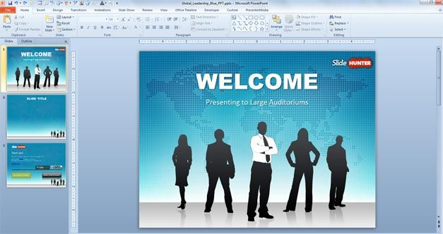 Free Global Leadership PowerPoint Template - Free PowerPoint