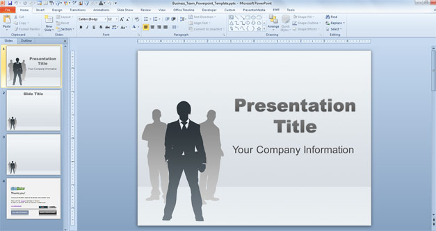 Free Business Team PowerPoint Template - Free PowerPoint Templates