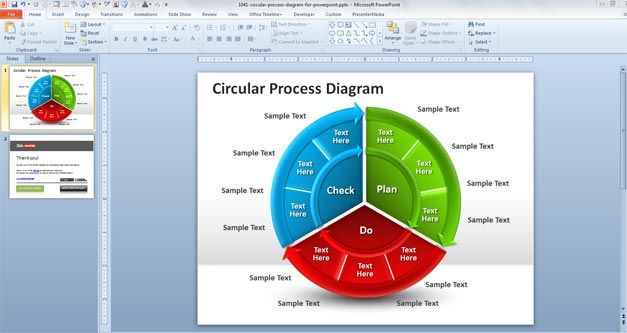 Free Circular Process Diagram for PowerPoint - Free PowerPoint - plantillas para power points