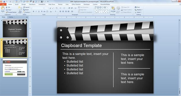 Free Clapboard PowerPoint Template - Free PowerPoint Templates