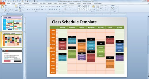 Schedule Template for PowerPoint