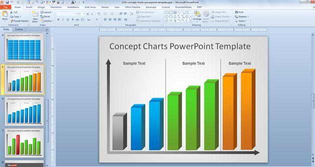 Free Creative Bar Chart PowerPoint Template - bar chart template