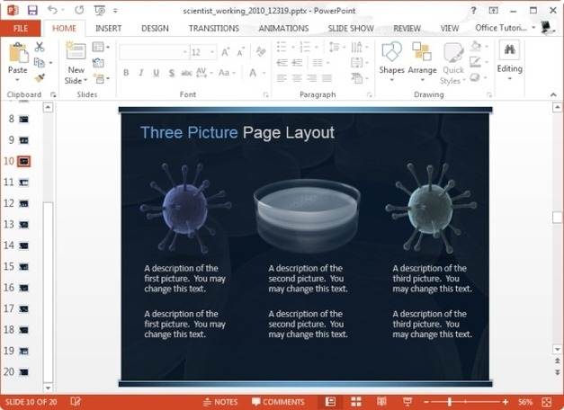 Animated Scientist PowerPoint Template For Scientific Presentations - powerpoint about science