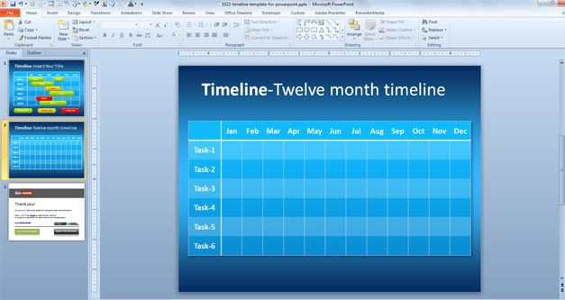 Free Simple Timeline Template for PowerPoint - Free PowerPoint - simple timeline template