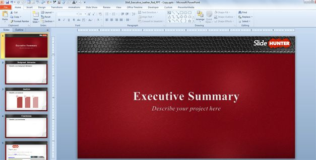 How to Create an Executive Summary using a PowerPoint Template
