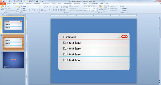 Free Flash Card PowerPoint Template - Free PowerPoint Templates - flash card template