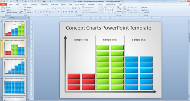 Free Creative Bar Chart PowerPoint Template