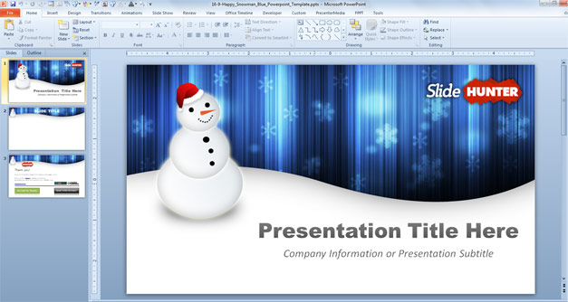 Free Snowman Powerpoint Template - Free PowerPoint Templates