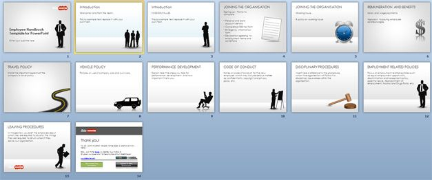 Free Employee Handbook Template for PowerPoint - Free PowerPoint - sample employee manual template