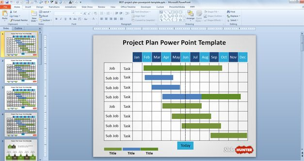 Free Project Plan PowerPoint Template - Project Design Template