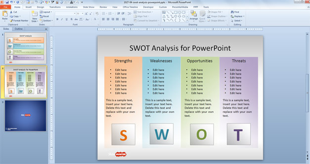 Free SWOT PowerPoint Template - Free PowerPoint Templates