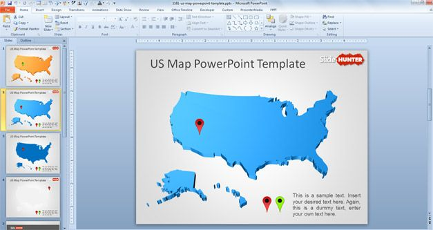 editable usa map powerpoint free - Intoanysearch