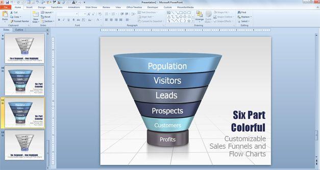 Funnel Diagram PowerPoint Template - smartart powerpoint template