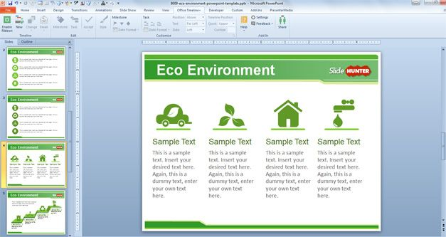 Free Eco Environment PowerPoint Template