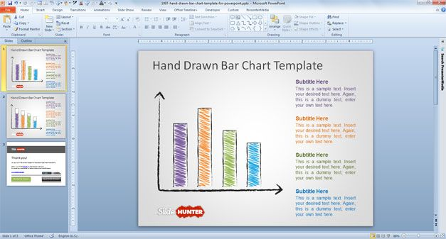Free Hand Drawn Bar Chart Template for PowerPoint - Free PowerPoint