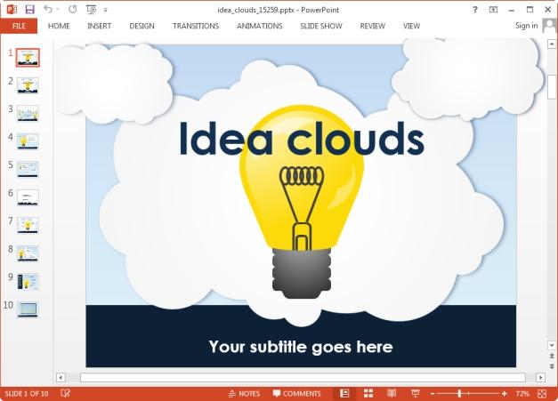 Animated Idea Light Bulb PowerPoint Template