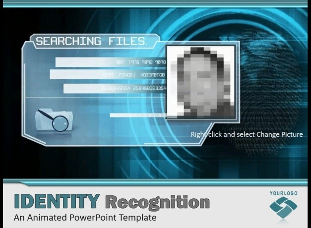 Cybercrime PowerPoint Template With Face Recognition Video Animation