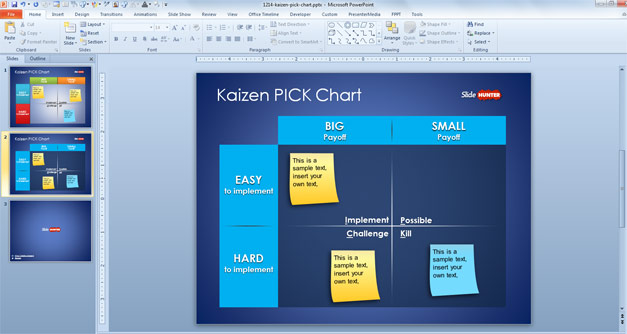 Free Kaizen PICK Chart Template for PowerPoint - Free PowerPoint - pick chart
