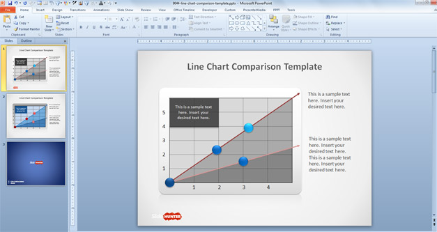 Free Line Chart PowerPoint Template - Free PowerPoint Templates