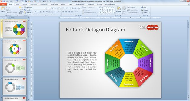 Free Editable Octagon Diagram for PowerPoint - Free PowerPoint - smartart powerpoint template