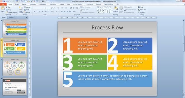 Simple Process Flow Template for PowerPoint - accounting flowchart template