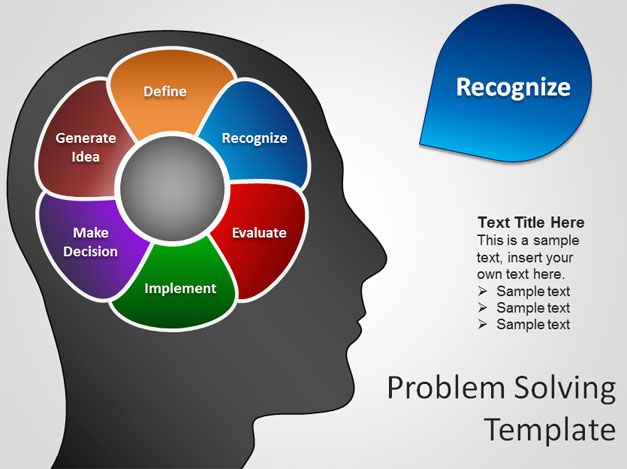 Free Brain PowerPoint Template for Problem Solving Presentations
