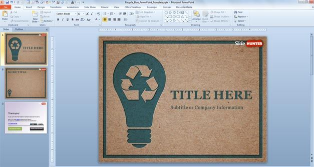 Free Recycle PowerPoint Template - recycling powerpoint templates