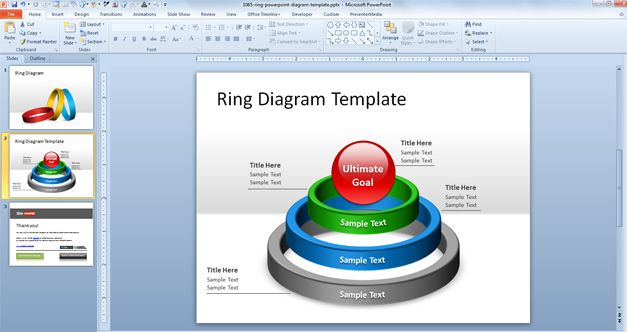 Free Ring PowerPoint Diagram Template - Free PowerPoint Templates
