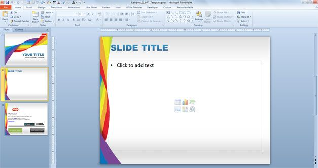 Free Rainbow DNA PowerPoint Template - Free PowerPoint Templates - rainbow powerpoint