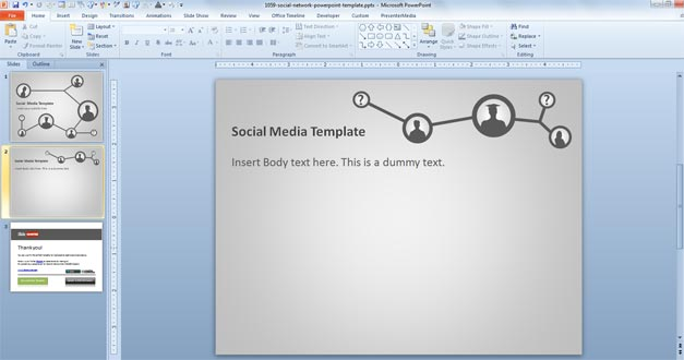 Free Social Network PowerPoint Template - Free PowerPoint Templates