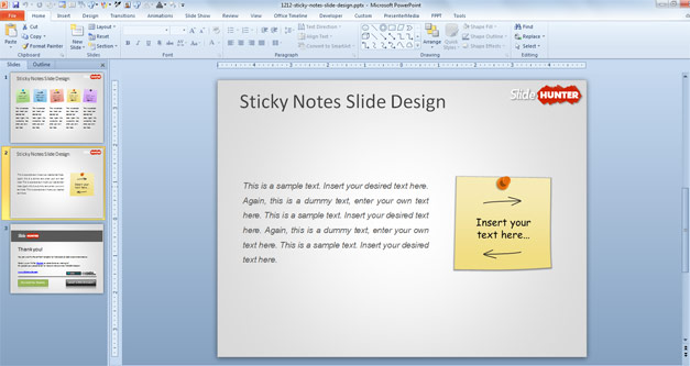 Free Sticky Notes PowerPoint Template - Free PowerPoint Templates