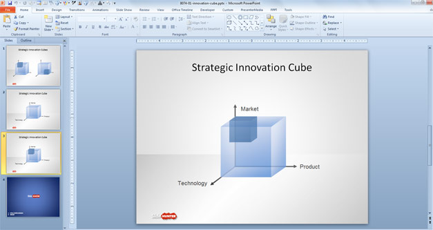Free Strategy Innovation Cube Template for PowerPoint - Free