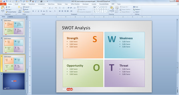 Free SWOT Analysis PowerPoint Template - Free PowerPoint Templates