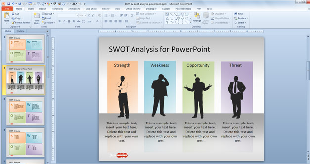 Free SWOT Analysis PowerPoint Template - Free PowerPoint Templates - free swot analysis template