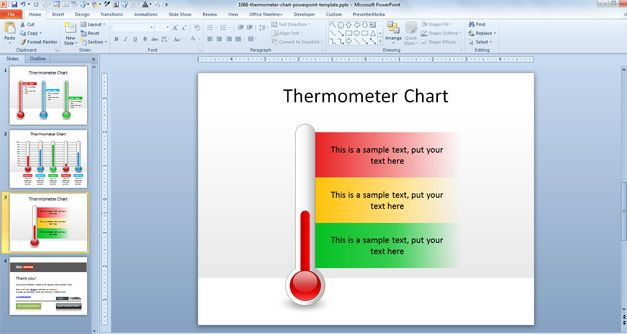 Free Thermometer Chart PowerPoint Template - Free PowerPoint - thermometer template
