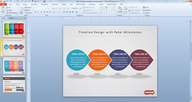 Free Creative Timeline PowerPoint Template