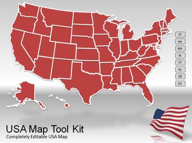 powerpoint us maps - Goalgoodwinmetals
