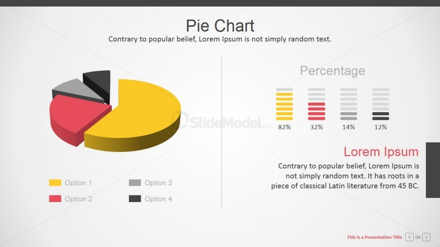 3D Branded Pie Chart for PowerPoint - SlideModel - pie chart templates