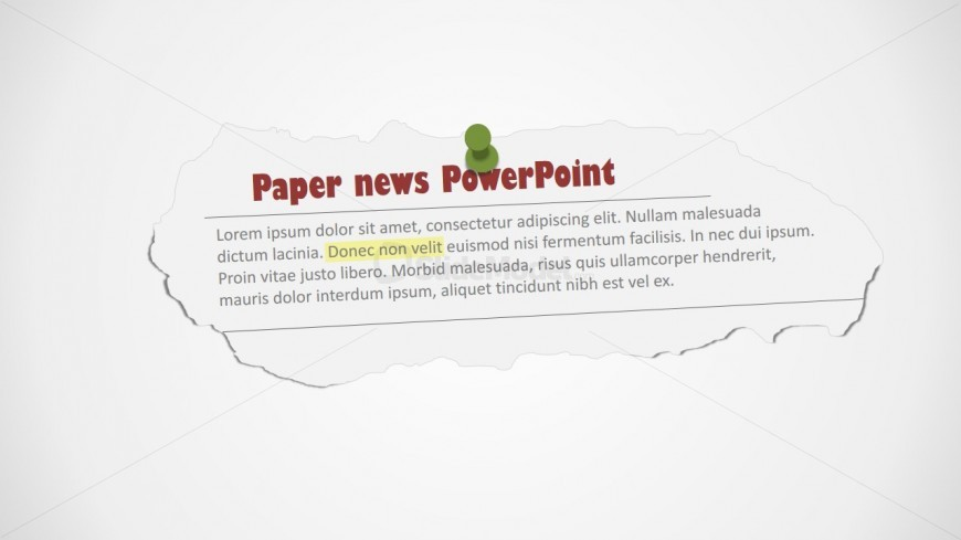 Newspaper Editable Clipping Shape for PowerPoint - SlideModel - newspaper powerpoint template