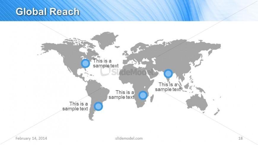 World Map PowerPoint Slide Design for Global Reach - SlideModel