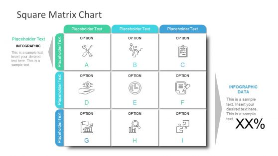 3x3 Matrix Templates for PowerPoint
