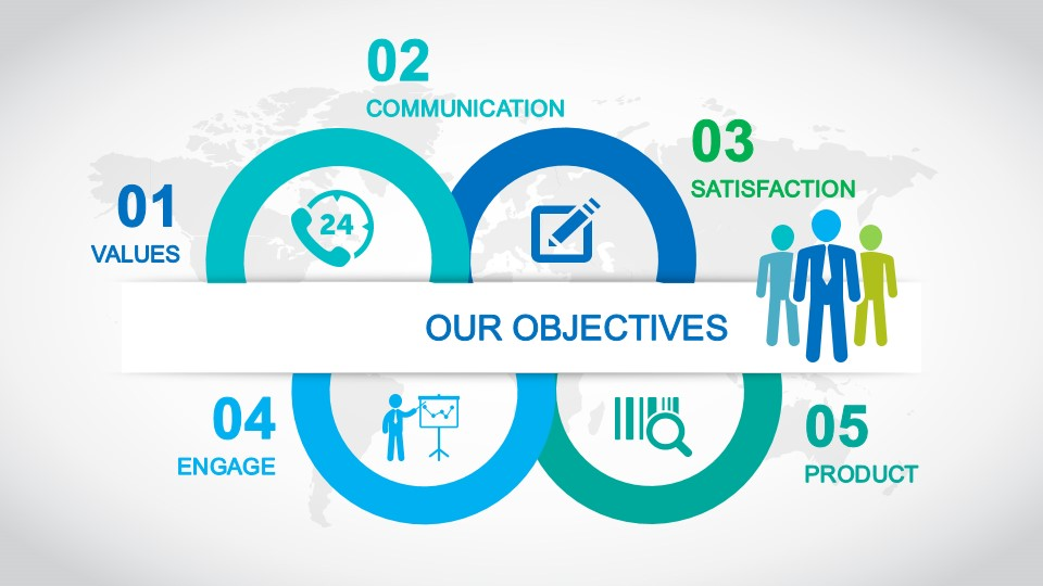 Goals  Objectives Slide Design for PowerPoint - SlideModel - power point slide designs