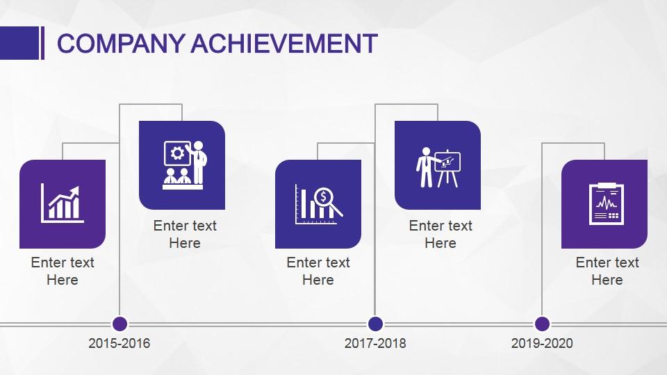 Company Achievement Slide Design Timeline - SlideModel