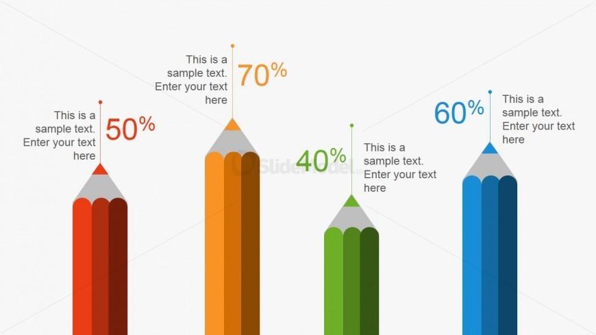 Creative Pencil Metaphor Bar Chart for PowerPoint - SlideModel - bar chart template