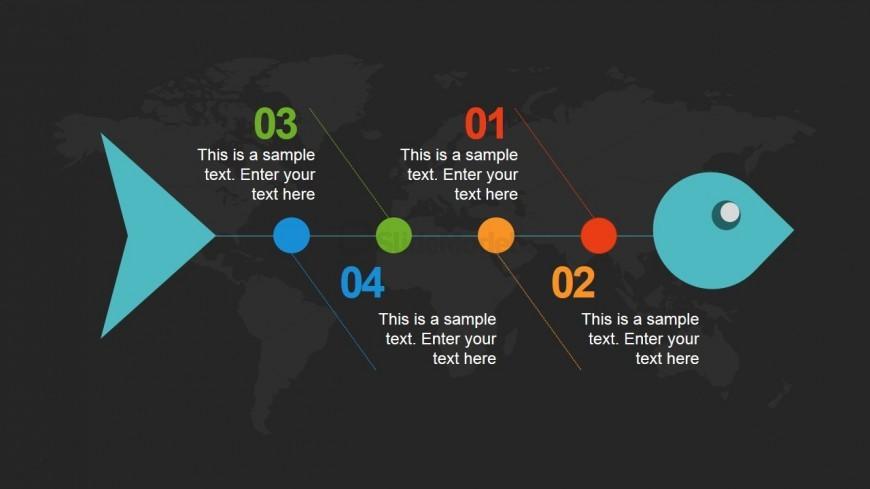 Dark Fishbone PowerPoint Slide Design - SlideModel - power point slide designs